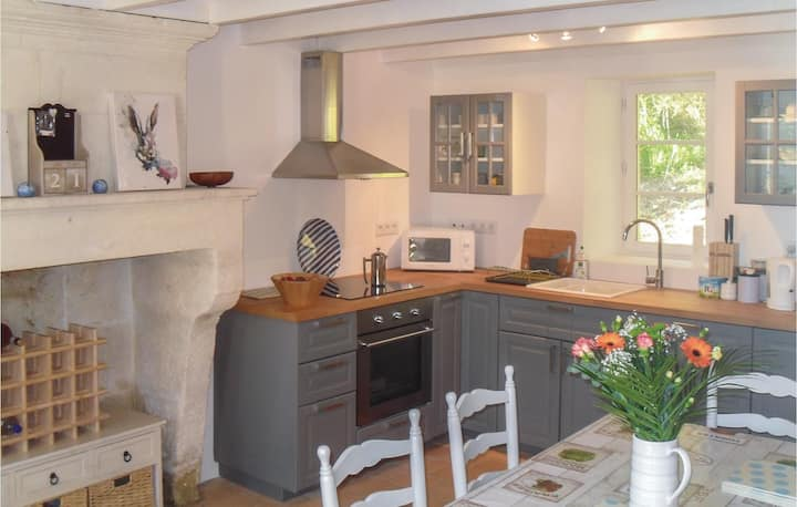 Nice home in Bonnes with 2 Bedrooms