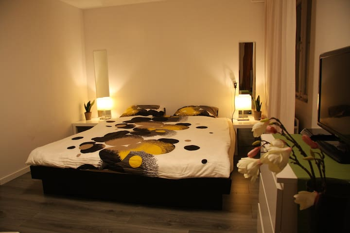 Big bedroom, 1 or 2 persons, short or long stay - Eindhoven - Hus