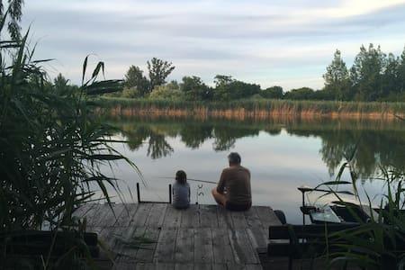 Közvetlen vízparti nyaraló, privát partszakasz - Szolnok - Haus