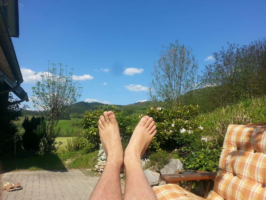 Auf unserer Sonnen-Terrasse