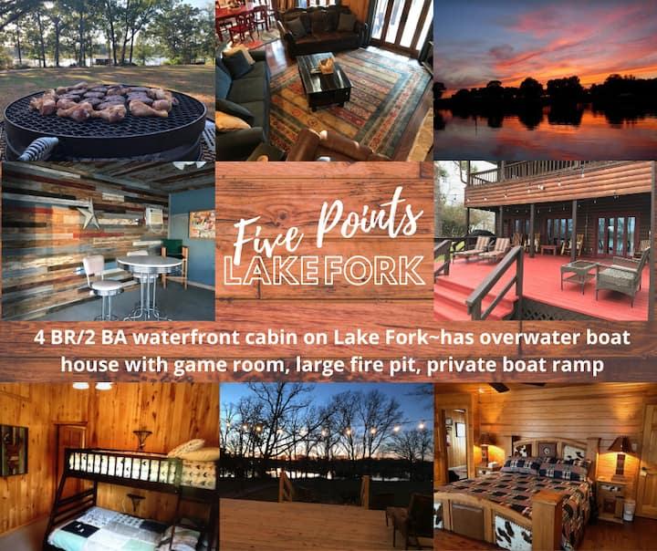 Cozy Lake Fork Cabin (boathouse/private boat ramp)