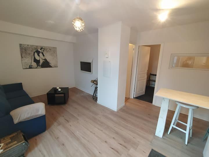 Appartement T2 cosy et chaleureux - 40mn de Rennes