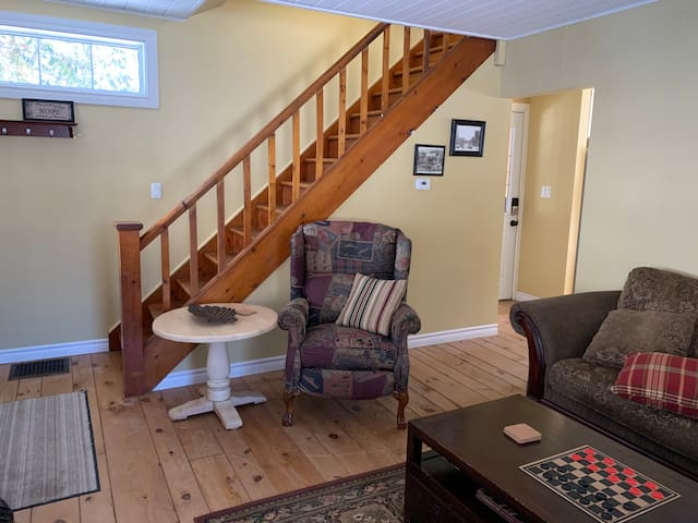 Living Room - Stairs to Upper Level Bedrooms