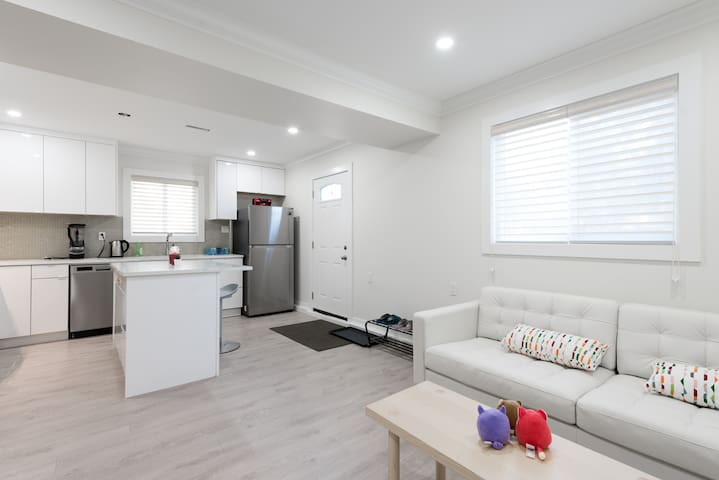 Self contained two bedroom above ground suite