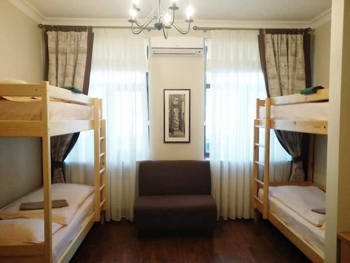 Bed in 4-bed (No. 4). Belokorichi Mini-Hotel is located in the central part of Kiev, a five-minute walk from Arsenalnaya Metro Station.