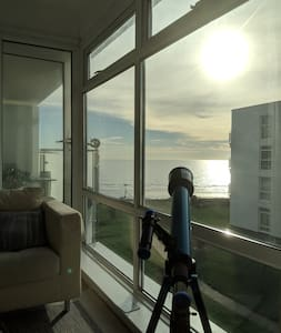 Luxury apartment right on the seafront.  Sleeps 4.