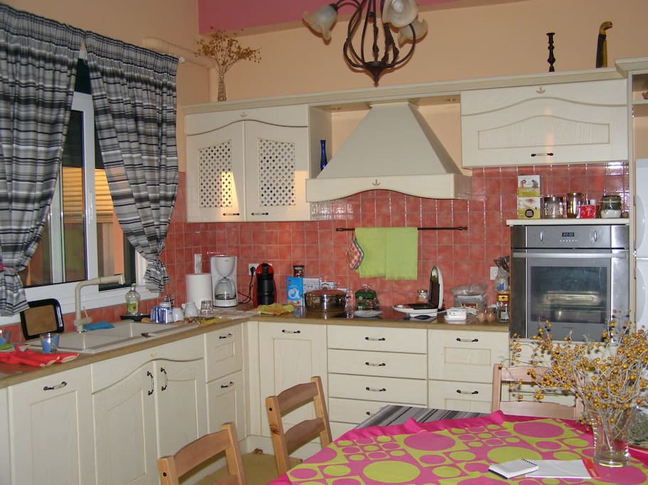 Our fully equipped kitchen full of tastes and flavors