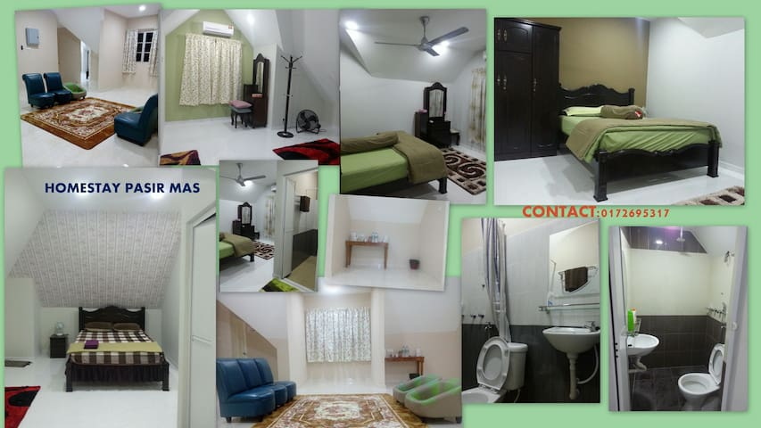 Rooms for rent ( with toilet) - Pasir Mas - Penzion (B&B)