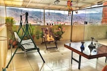 Sit back and enjoy this amazing view with your complimentary coca tea at our rooftop terrace!
