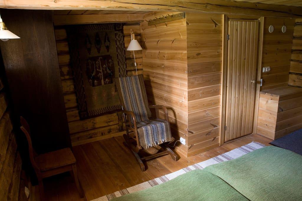 Downstais of Makasiini cabin