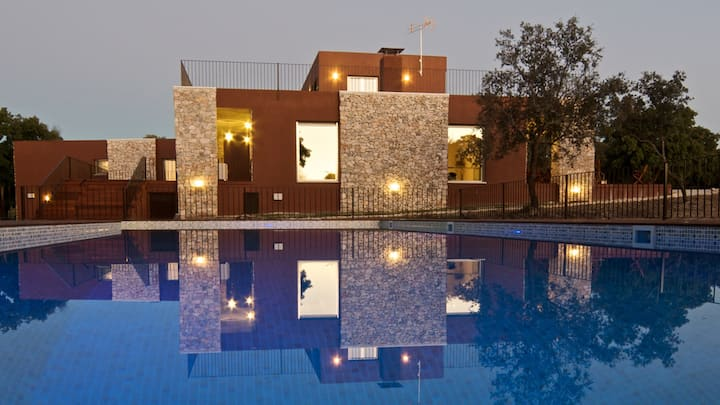 Beautiful design house with large pool