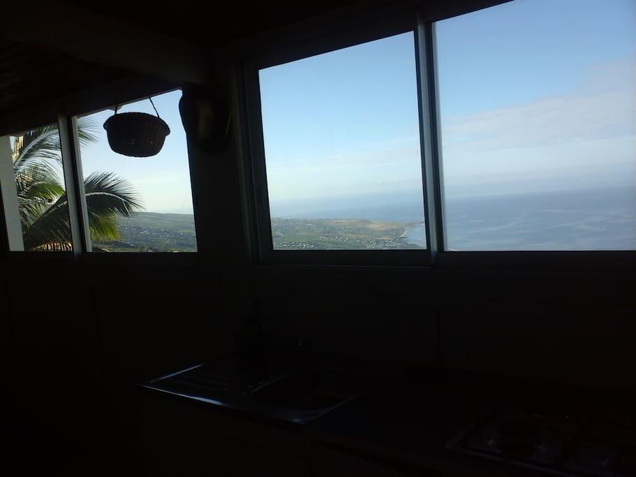 la vue sur le littoral