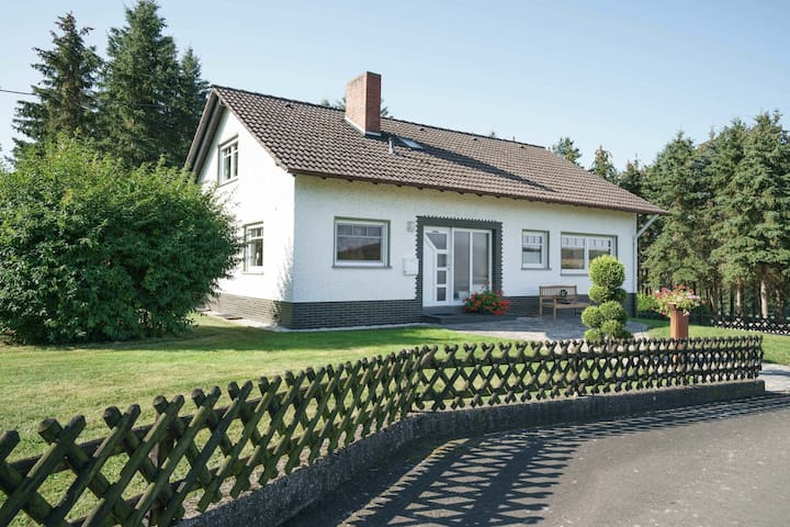 A detached holiday home in a highly scenic area