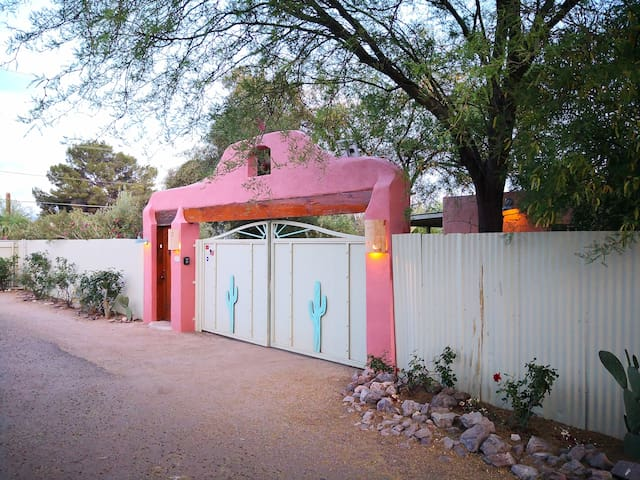 The property is entirely walled by a six foot fence, maximum privacy! And no worries about kids or pets leaving the property!