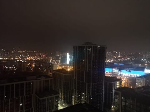 """New York in Kyiv"" (18th floor panoramic view)"
