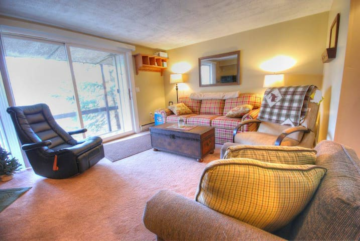 Cute 2BR Stratton Condo halfway up access road - Winhall - Appartement