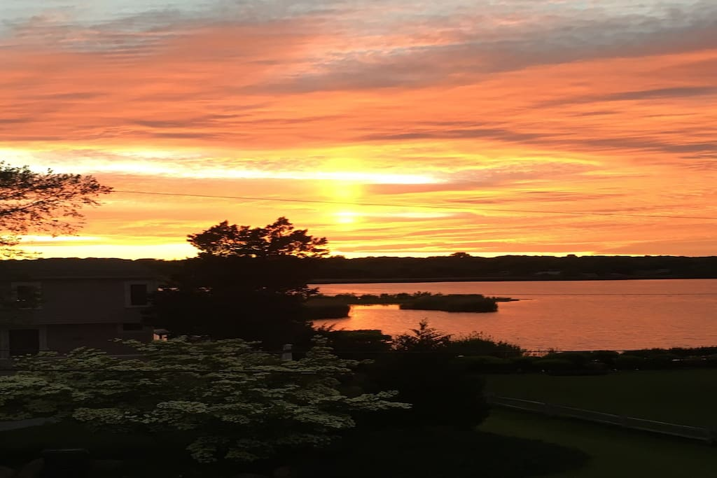 breathtaking sunsets from deck