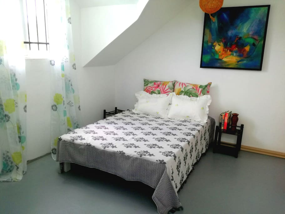 Private bedroom with new orthopedic mattress
