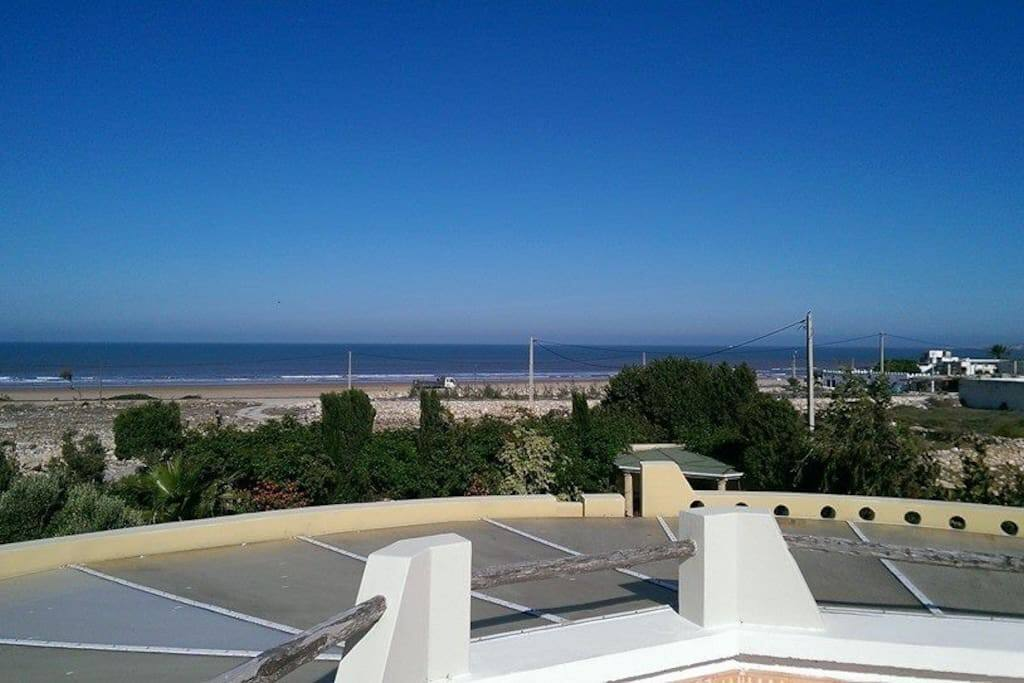The Atlantic beachhead, about 150m away, from the roof terrace.