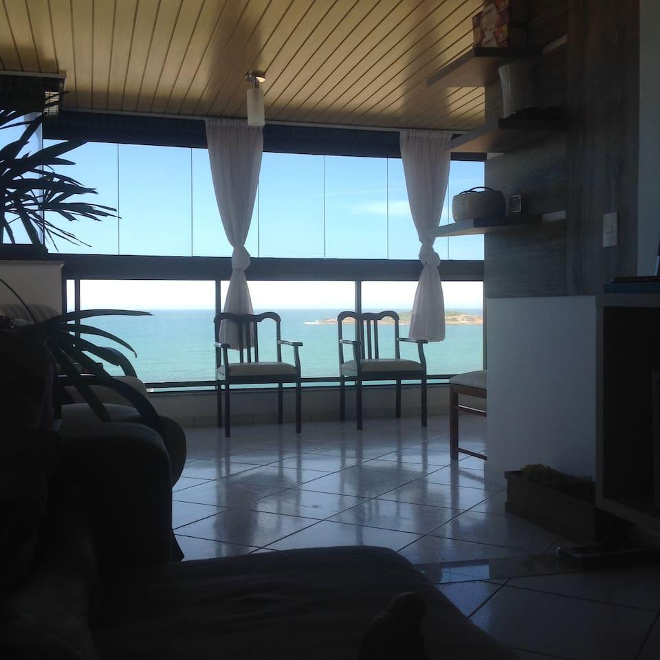 Lindo apto de frente para o mar na Praia de Itaparica!! Vila Velha Es Brazil