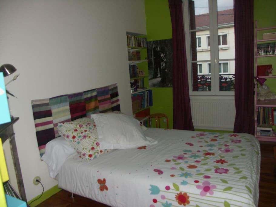 chambre verte dans jolie maison des ann es 30 maisons louer clermont ferrand auvergne. Black Bedroom Furniture Sets. Home Design Ideas