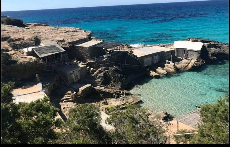 Cool Ibiza north apartment with sea views