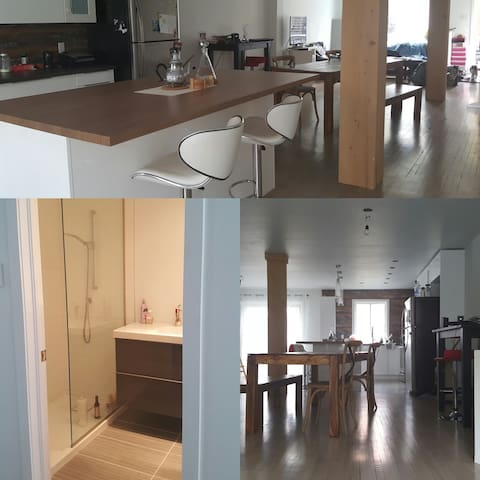 Big appartment with patio - green ligne - Montreal - Apartamento
