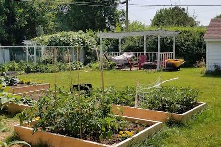 Entire Apartment with sunroom on future Urban Farm