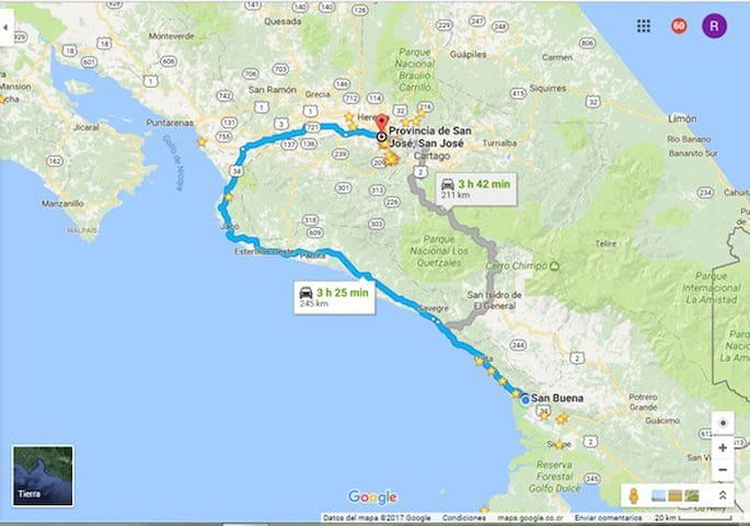 How to get from San José?