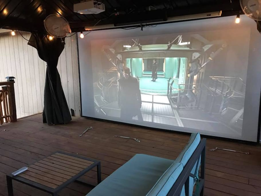 Really quick! I just added a 155in theater in the the back yard you can use! ok, back to your room