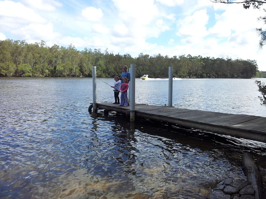 Fishing from your private jetty