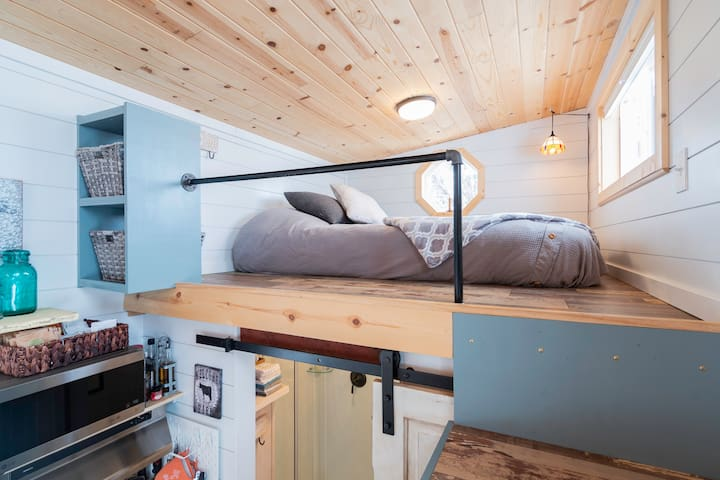 One of two lofts - this one has a queen size mattress