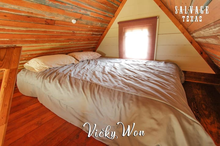 Loft Space sleeps two comfortably inside the Vicky Won