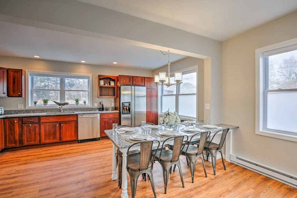 All 8 guests in your travel group will love the hardwood flooring.