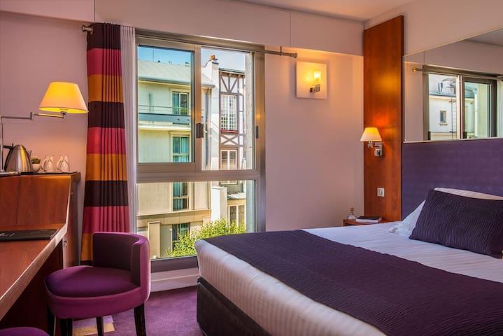 ☀A spacious room with a Parisian garden view