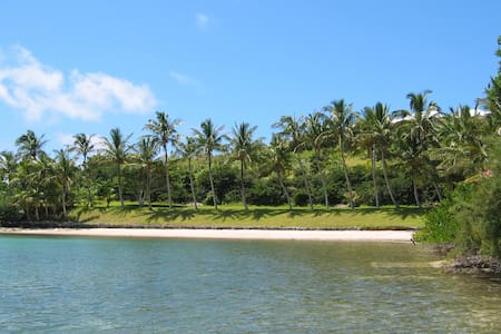 Secluded hideaway with beach.  House, 5 Acres.