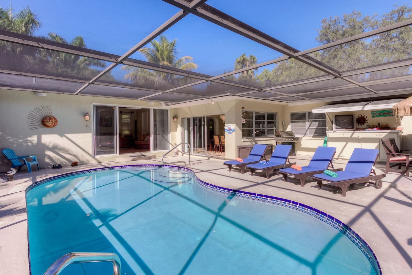 The Edison home featuring a southern facing pool area.