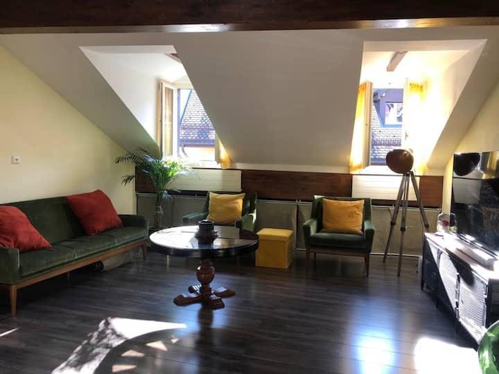 Studio, 54 m2 dans les combles Proche du lac
