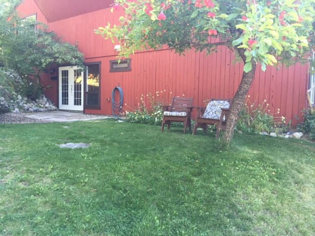 Walk out basement suite, country retreat!  Private entrance.