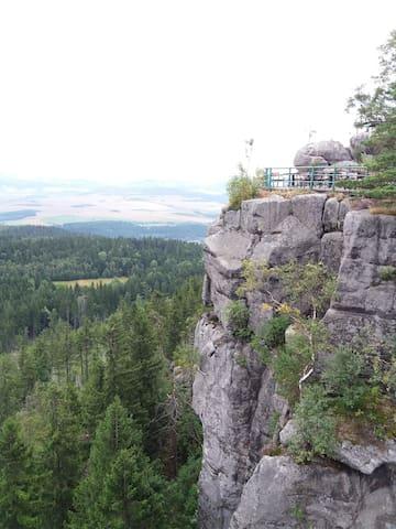 Szczeliniec. Góry Stołowe.