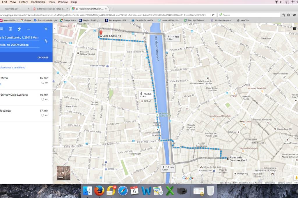 Del Apartamento al Centro andando. From the apartment till downtown walking distance