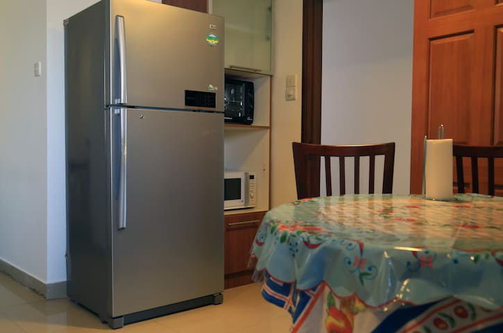 Refrigerator, microwave and electric oven