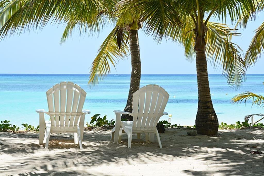 Private beach garden