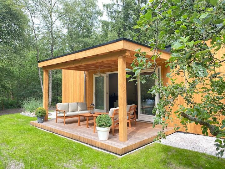 Luxe vakantiehuis midden in het Drentse bos