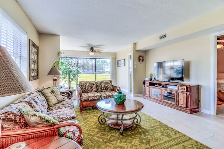 Quiet, waterfront home w/ shared pool access by boardwalk to beach