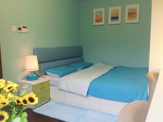 Blue sea style room,clean and trafic convenient - Shanghai - Apartment
