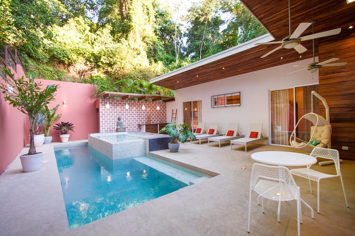 """Casa Bliss, a new modern home, close to surf and yoga."""