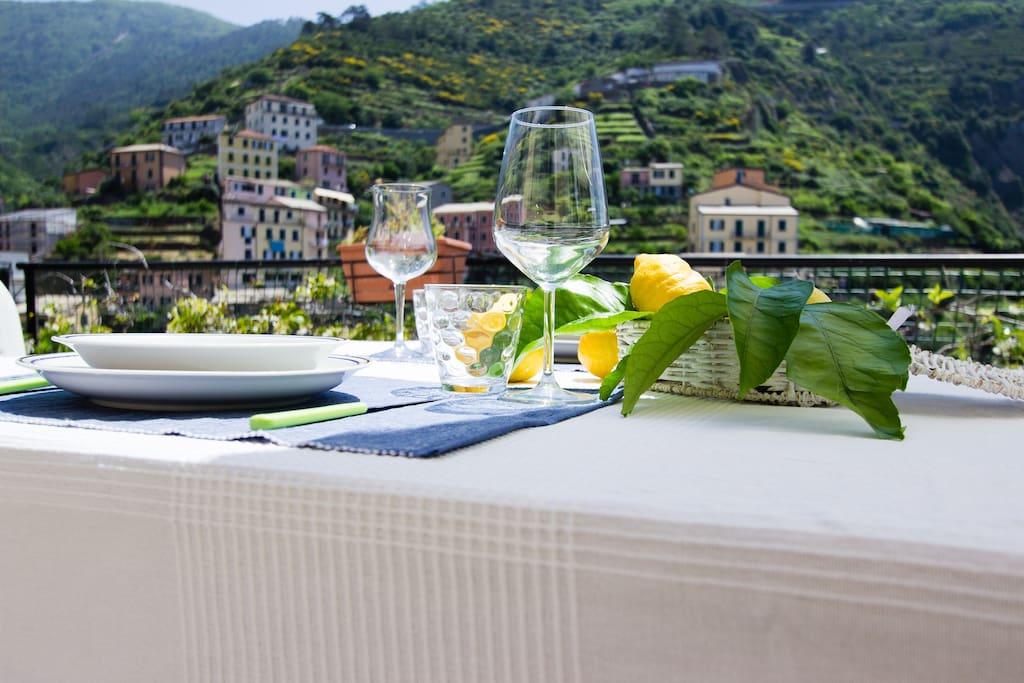Our Terrace inside Riomaggiore Village