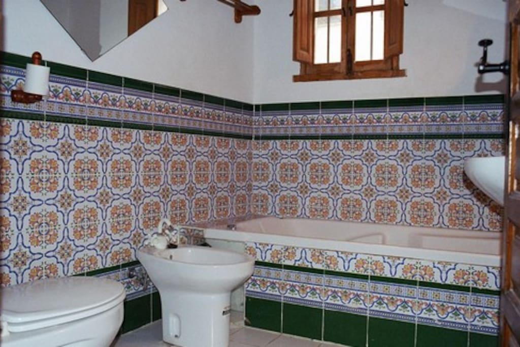 traditionally tiled bathroom