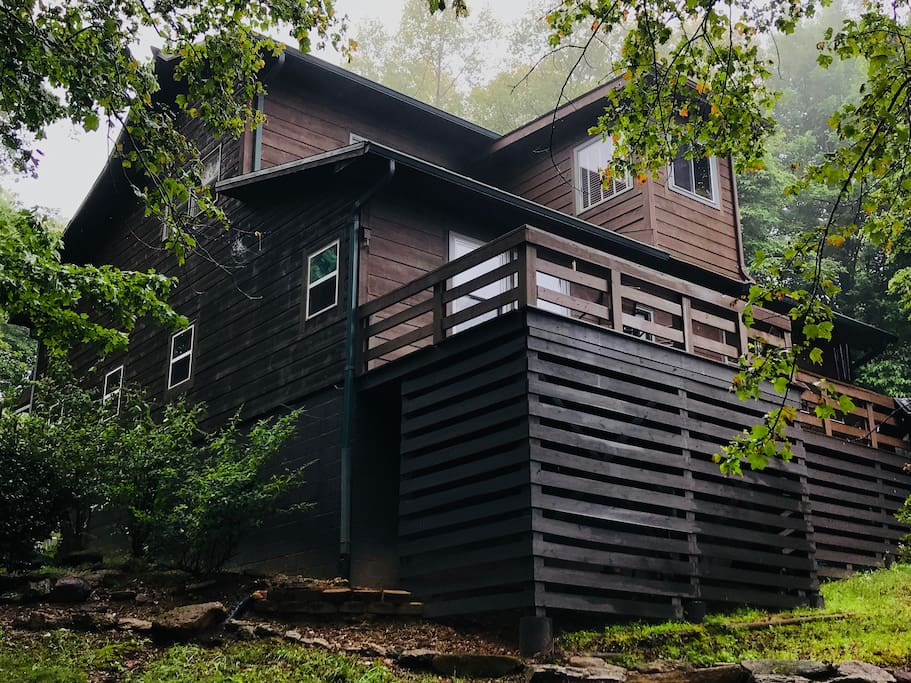 Two Story Cabin with Deck